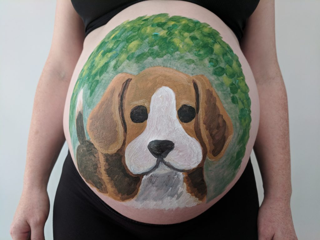 Babybelly with Beagle